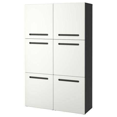 Комбинация для хранения с дверцами БЕСТО белый артикуль № 590.584.14 в наличии. Интернет магазин IKEA Беларусь. Недорогая доставка и монтаж.