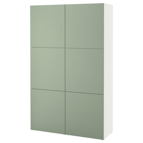 Комбинация для хранения с дверцами БЕСТО зеленый артикуль № 790.577.91 в наличии. Онлайн каталог IKEA Минск. Быстрая доставка и монтаж.