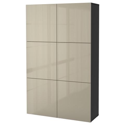 Комбинация для хранения с дверцами БЕСТО артикуль № 891.247.66 в наличии. Онлайн сайт IKEA Минск. Быстрая доставка и монтаж.