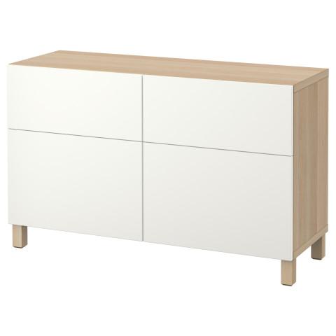 Комбинация для хранения с дверцами, ящиками БЕСТО белый артикуль № 290.895.63 в наличии. Интернет сайт IKEA Республика Беларусь. Быстрая доставка и установка.
