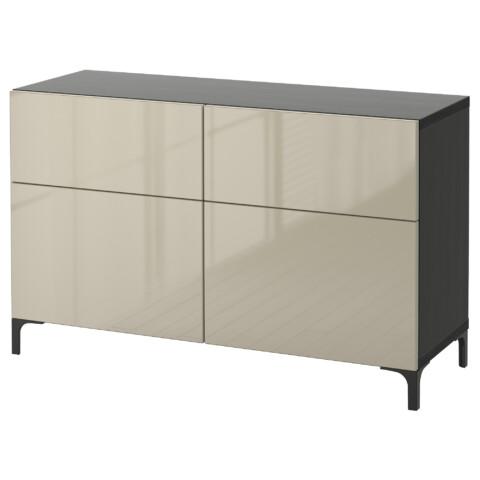 Комбинация для хранения с дверцами, ящиками БЕСТО артикуль № 391.247.16 в наличии. Online магазин IKEA РБ. Быстрая доставка и монтаж.
