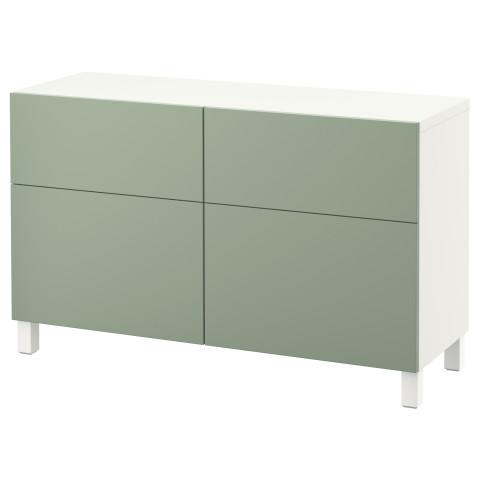 Комбинация для хранения с дверцами, ящиками БЕСТО зеленый артикуль № 990.896.54 в наличии. Online сайт IKEA Минск. Быстрая доставка и установка.