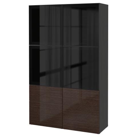 Комбинация для хранения со стеклянными дверцами БЕСТО артикуль № 090.901.00 в наличии. Интернет каталог IKEA РБ. Быстрая доставка и монтаж.