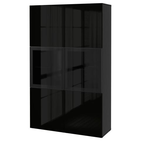 Комбинация для хранения со стеклянными дверцами БЕСТО артикуль № 290.594.72 в наличии. Онлайн магазин IKEA Минск. Недорогая доставка и соборка.