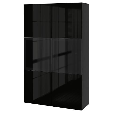 Комбинация для хранения со стеклянными дверцами БЕСТО артикуль № 890.594.74 в наличии. Интернет каталог IKEA Минск. Недорогая доставка и монтаж.