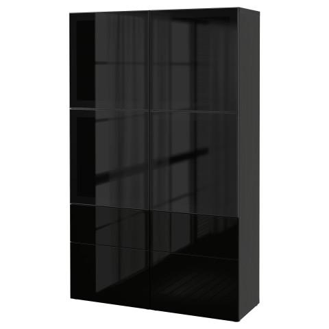 Комбинация для хранения со стеклянными дверцами БЕСТО артикуль № 890.900.83 в наличии. Интернет магазин IKEA Республика Беларусь. Недорогая доставка и соборка.