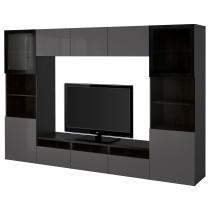 Шкаф для ТВ, комбинированный, стекляные дверцы БЕСТО артикуль № 390.814.82 в наличии. Онлайн сайт IKEA Беларусь. Недорогая доставка и установка.