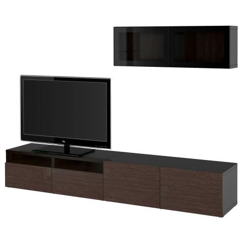 Шкаф для ТВ, комбинированный, стекляные дверцы БЕСТО артикуль № 490.724.15 в наличии. Онлайн каталог IKEA Беларусь. Недорогая доставка и соборка.