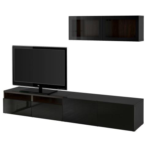 Шкаф для ТВ, комбинированный, стекляные дверцы БЕСТО артикуль № 590.724.72 в наличии. Онлайн каталог IKEA РБ. Недорогая доставка и монтаж.