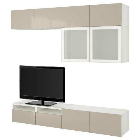 Шкаф для ТВ, комбинированный, стекляные дверцы БЕСТО белый артикуль № 890.741.01 в наличии. Онлайн каталог ИКЕА РБ. Быстрая доставка и монтаж.