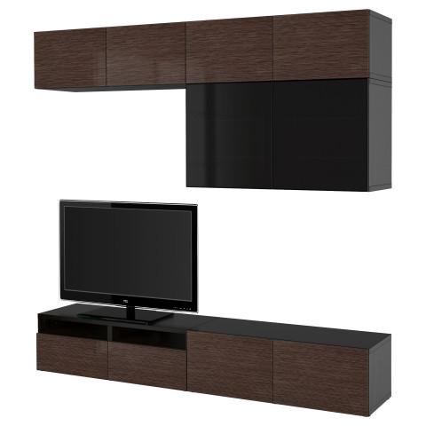 Шкаф для ТВ, комбинированный, стекляные дверцы БЕСТО артикуль № 990.738.94 в наличии. Интернет магазин IKEA РБ. Быстрая доставка и установка.