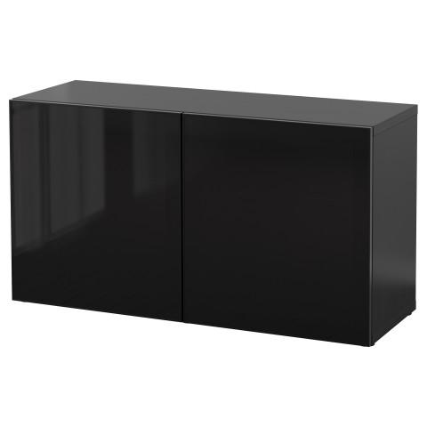 Стеллаж со стеклянная дверьми БЕСТО артикуль № 290.477.71 в наличии. Online сайт IKEA РБ. Недорогая доставка и соборка.