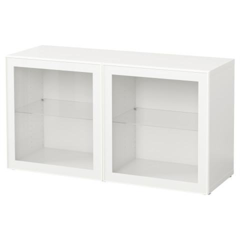 Стеллаж со стеклянная дверьми БЕСТО белый артикуль № 390.478.17 в наличии. Онлайн сайт IKEA Минск. Недорогая доставка и монтаж.