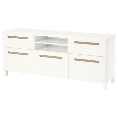 Тумба под ТВ БЕСТО белый артикуль № 491.197.24 в наличии. Online каталог IKEA Минск. Недорогая доставка и установка.