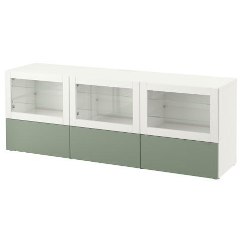 Тумба под ТВ, с дверцами и ящиками БЕСТО зеленый артикуль № 590.846.01 в наличии. Интернет магазин IKEA РБ. Быстрая доставка и установка.
