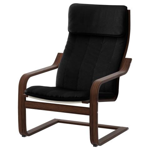 Кресло ПОЭНГ черный артикуль № 091.256.56 в наличии. Онлайн магазин IKEA Беларусь. Быстрая доставка и монтаж.