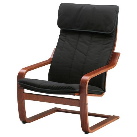 Кресло ПОЭНГ черный артикуль № 291.256.60 в наличии. Online магазин ИКЕА РБ. Недорогая доставка и соборка.