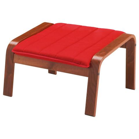 Табурет для ног ПОЭНГ красный артикуль № 191.288.00 в наличии. Online каталог IKEA РБ. Быстрая доставка и монтаж.