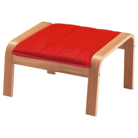 Табурет для ног ПОЭНГ красный артикуль № 591.288.03 в наличии. Онлайн сайт IKEA РБ. Быстрая доставка и монтаж.