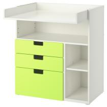 Пеленальный столик с 3 ящиками СТУВА зеленый артикуль № 191.240.10 в наличии. Online магазин ИКЕА РБ. Быстрая доставка и установка.