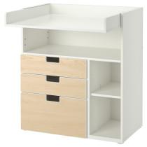 Пеленальный столик с 3 ящиками СТУВА белый артикуль № 591.240.13 в наличии. Интернет магазин IKEA РБ. Недорогая доставка и установка.