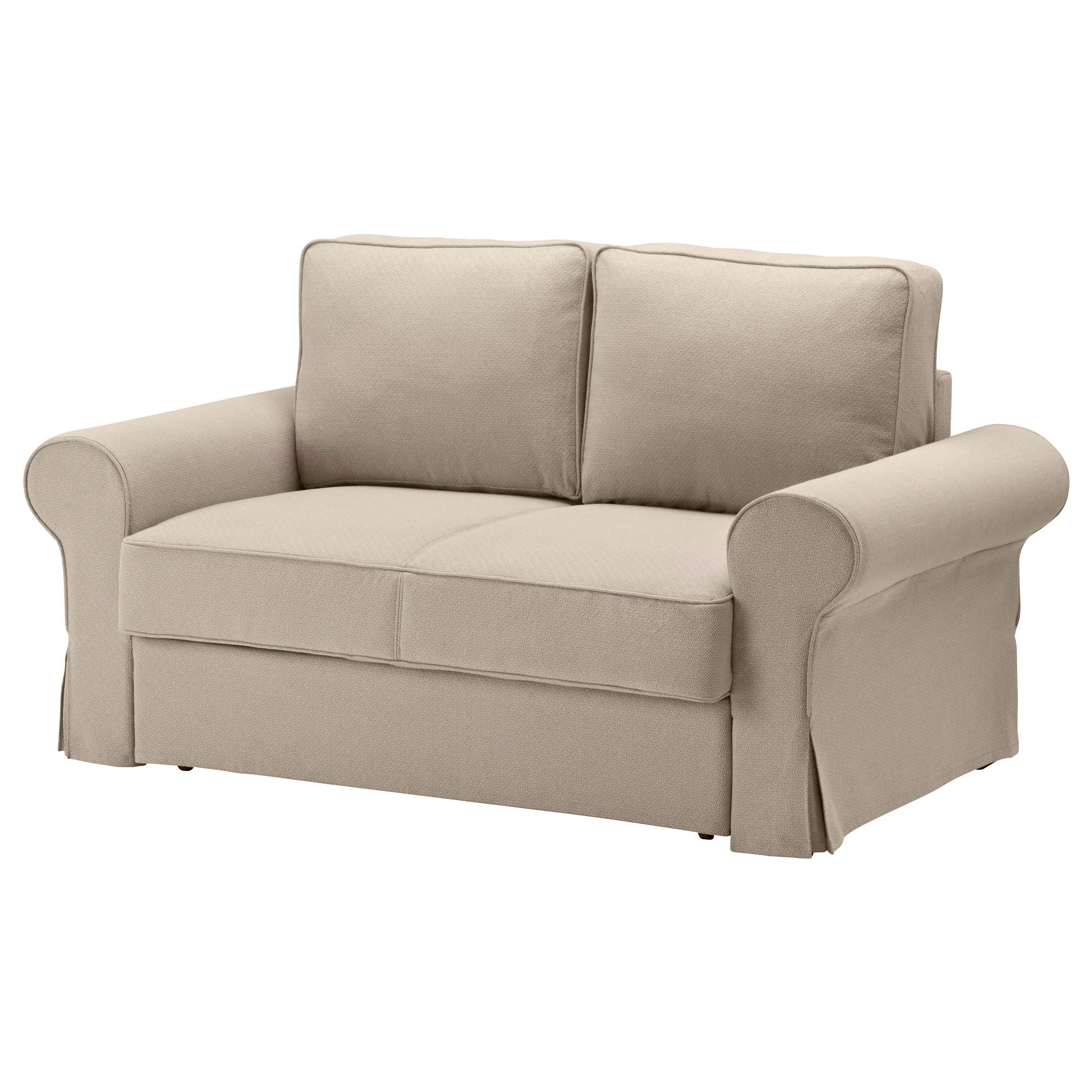Купить Диван кровать 2 местная БАККАБРУ ХиРьте бежевый в IKEA