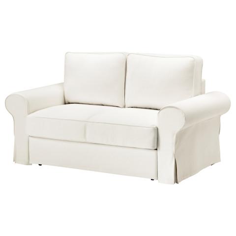 Диван-кровать 2-местная БАККАБРУ белый артикуль № 391.336.50 в наличии. Онлайн магазин ИКЕА РБ. Недорогая доставка и соборка.