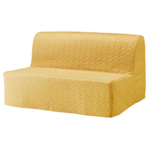 Диван-кровать 2-местная ЛИКСЕЛЕ ХОВЕТ желтый артикуль № 491.499.24 в наличии. Интернет магазин ИКЕА РБ. Быстрая доставка и монтаж.