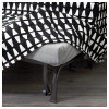 Диван-кровать 2-местная ЛИКСЕЛЕ ХОВЕТ черный/белый артикуль № 691.499.23 в наличии. Онлайн каталог IKEA Республика Беларусь. Недорогая доставка и установка.