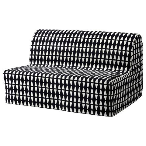 Диван-кровать 2-местная ЛИКСЕЛЕ МУРБО черный/белый артикуль № 191.661.80 в наличии. Интернет магазин IKEA Минск. Недорогая доставка и соборка.