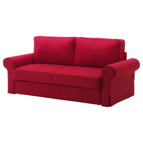 Диван-кровать 3-местный БАККАБРУ красный артикуль № 191.341.08 в наличии. Online магазин IKEA РБ. Быстрая доставка и монтаж.