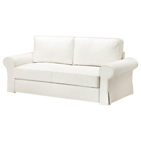 Диван-кровать 3-местный БАККАБРУ белый артикуль № 791.341.10 в наличии. Онлайн магазин ИКЕА Минск. Недорогая доставка и установка.