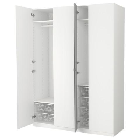 Гардероб ПАКС белый артикуль № 191.612.72 в наличии. Онлайн магазин IKEA Минск. Быстрая доставка и монтаж.