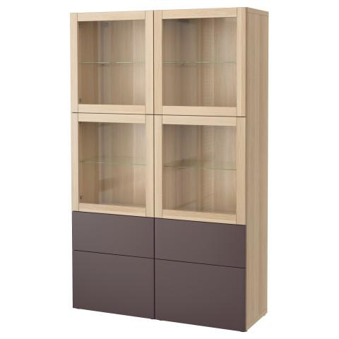 Комбинация для хранения со стеклянными дверцами БЕСТО артикуль № 391.387.42 в наличии. Онлайн каталог IKEA Беларусь. Быстрая доставка и соборка.