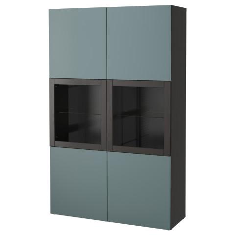 Комбинация для хранения со стеклянными дверцами БЕСТО артикуль № 491.386.33 в наличии. Online сайт IKEA Беларусь. Недорогая доставка и монтаж.