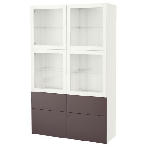 Комбинация для хранения со стеклянными дверцами БЕСТО белый артикуль № 791.388.20 в наличии. Онлайн магазин ИКЕА РБ. Недорогая доставка и соборка.