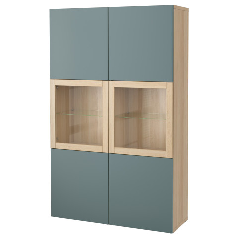 Комбинация для хранения со стеклянными дверцами БЕСТО артикуль № 891.386.69 в наличии. Онлайн магазин IKEA РБ. Быстрая доставка и соборка.
