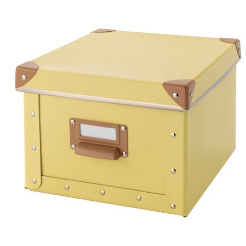 Коробка с крышкой ФЬЕЛЛА желтый артикуль № 803.253.16 в наличии. Online сайт ИКЕА РБ. Недорогая доставка и установка.
