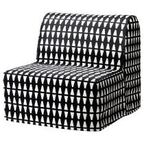 Кресло-кровать ЛИКСЕЛЕ ХОВЕТ черный/белый артикуль № 891.341.43 в наличии. Онлайн магазин IKEA Республика Беларусь. Недорогая доставка и монтаж.