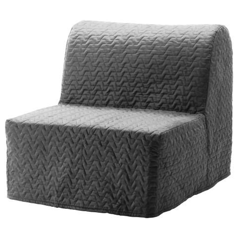 Кресло-кровать ЛИКСЕЛЕ ЛЁВОС серый артикуль № 091.341.56 в наличии. Интернет магазин IKEA Республика Беларусь. Недорогая доставка и установка.
