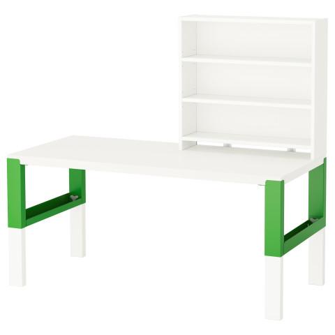 Письменн стол с полками ПОЛЬ зеленый артикуль № 791.289.96 в наличии. Online магазин IKEA РБ. Недорогая доставка и установка.