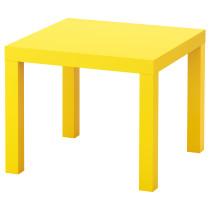 Придиванный столик ЛАКК желтый артикуль № 103.242.78 в наличии. Интернет магазин IKEA Беларусь. Недорогая доставка и установка.