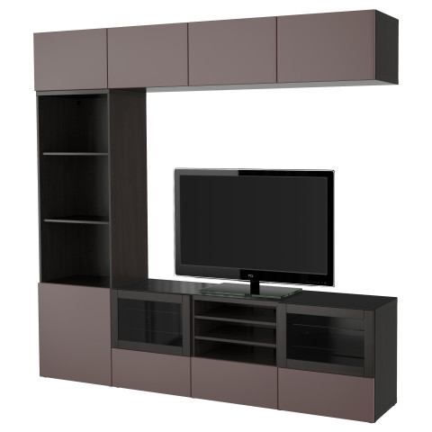 Шкаф для ТВ, комбинированный, стекляные дверцы БЕСТО артикуль № 191.392.76 в наличии. Online каталог IKEA Минск. Быстрая доставка и монтаж.