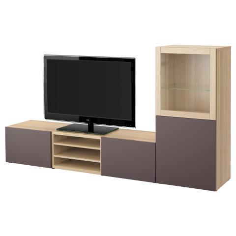 Шкаф для ТВ, комбинированный, стекляные дверцы БЕСТО артикуль № 791.370.38 в наличии. Онлайн магазин IKEA Беларусь. Быстрая доставка и монтаж.