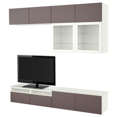 Шкаф для ТВ, комбинированный, стекляные дверцы БЕСТО белый артикуль № 891.390.13 в наличии. Онлайн сайт IKEA Беларусь. Быстрая доставка и монтаж.