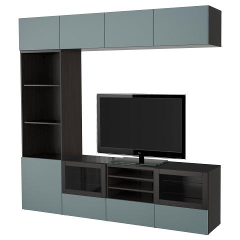 Шкаф для ТВ, комбинированный, стекляные дверцы БЕСТО артикуль № 891.392.73 в наличии. Online каталог IKEA РБ. Быстрая доставка и монтаж.