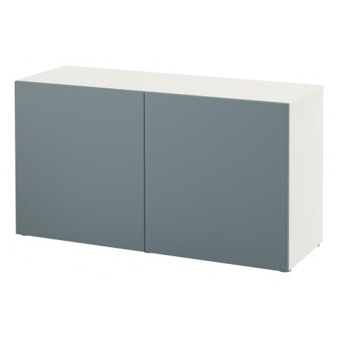 Стеллаж с дверьми БЕСТО белый артикуль № 191.327.98 в наличии. Онлайн сайт IKEA Минск. Недорогая доставка и соборка.