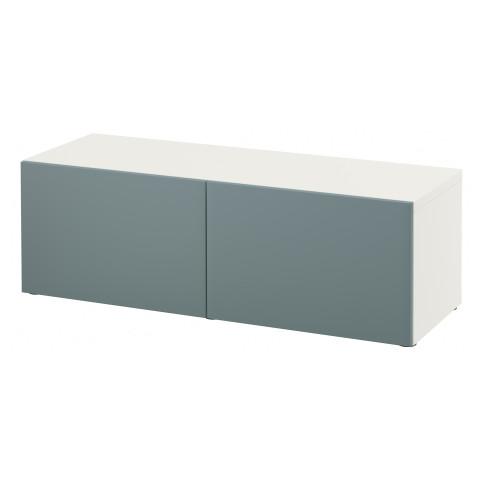 Стеллаж с дверьми БЕСТО белый артикуль № 791.327.95 в наличии. Онлайн сайт IKEA Минск. Быстрая доставка и установка.