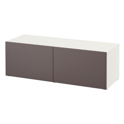 Стеллаж с дверьми БЕСТО темно-коричневый артикуль № 891.328.13 в наличии. Интернет сайт IKEA РБ. Недорогая доставка и соборка.