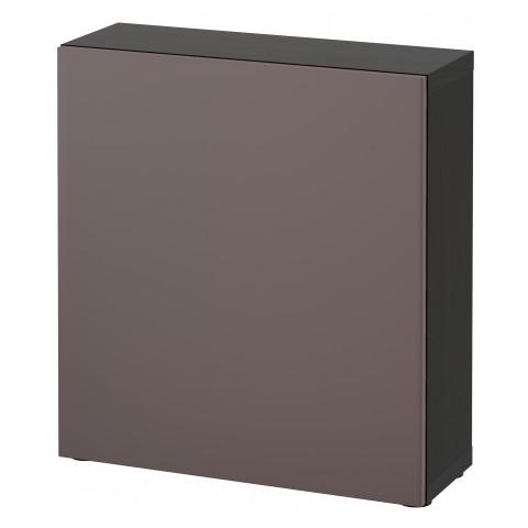 Стеллаж с дверью БЕСТО темно-коричневый артикуль № 391.506.92 в наличии. Online каталог IKEA Минск. Быстрая доставка и соборка.